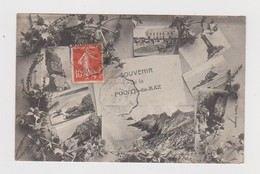 Souvenir De La Pointe-du-Raz.29.Finistère.1908.Cachet De L'Hôtel Du Raz-de-Sein,Le Bour Keradennec Propriétaire.Ambulant - Francia
