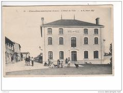 (n°687)  CPA 42 CHAZELLES SUR LYON Hotel De Ville 1914 - Autres Communes