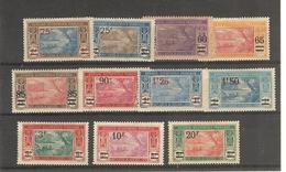 Côte- D'Ivoire _ Serie Lagune Ebrié Surchargé N°64/74  (1922 )
