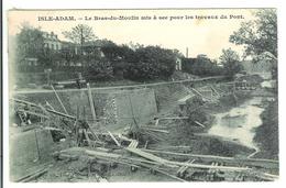 ISLE ADAM - Le Bras Du Moulin Mis à Sec Pour Les Travaux Du Pont - L'Isle Adam