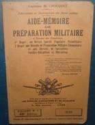 AIDE MEMOIRE DE PREPARATION MILITAIRE.1939 - Francese