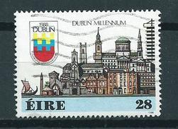 1988 Ireland 1000 Years Dublin Used/gebruikt/oblitere - 1949-... Republiek Ierland