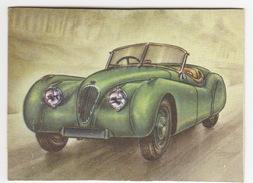 Chromo Cigarettes : Virginia 'Full Speed' - JAGUAR XK 120 SUPER SPORT ROADSTER, Bj. 1949 (Gr. Br.) -No. 128- (2 Scans) - Sigaretten
