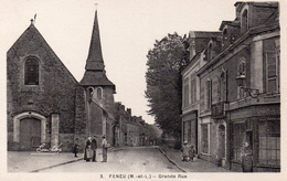 Maine Et Loire : Feneu : Grande Rue - Sonstige Gemeinden