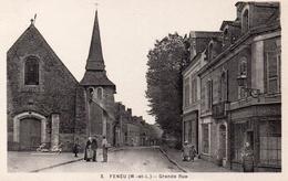 Maine Et Loire : Feneu : Grande Rue - France