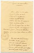 La Marseillaise De Claude Joseph Rouget De Lisle (copie), Document Original Et Cachet De La Bibliothèque Nationale - Manuscrits