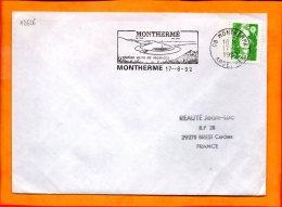 """ARDENNES, Monthermé, Flamme SCOTEM N° 12626, """"station Verte De Vacances"""" - Storia Postale"""