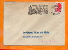 "ARDENNES, Rethel, Flamme SCOTEM N° 6773, ""fêtes De Ste Anne Fin Juillet"" - Marcophilie (Lettres)"