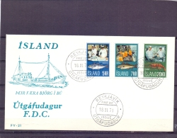 Island - Fishing - FDC - Reykjavik 18/11/71   (RM11333) - Fishes