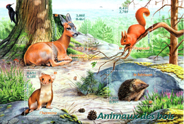 France.bloc No 36 De 2001.animaux Des Bois.n**. - Nuovi