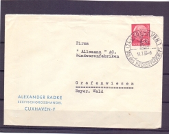 Deutsche Bundespost - Tag Des Hochseefischers - Cuxhaven 14/7/56   (RM11420) - Vissen