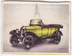 Chromo Cigarettes : Virginia 'Full Speed' - CITROËN 'Tout Acier' Torpedo , Bj. 1925 - (Frankrijk) - No. 46 - (2 Scans) - Cigarettes