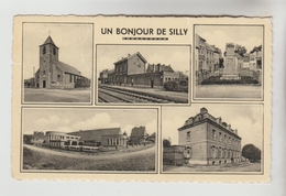 CPSM SILLY (Belgique-Hainaut) - Un Bonjour De.....5 Vues - Silly