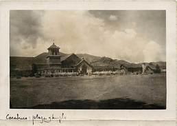 -size -format 15cms X 11cms -ref :U68- Bolivie -bolivia - Carte Photo  Carabuco -plaza Templo - - Bolivie