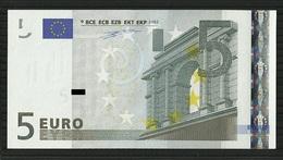 5 EURO ITALIE J002 C6 S03320165923 UNC DUISENBERG - EURO