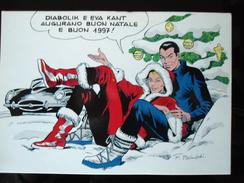 Merry Christmas ! From Eva Kant And Diabolik Carte Postale - Bandes Dessinées