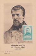 Carte  Maximum    A.M    ALBERT     BURY   1948 - Maximumkaarten