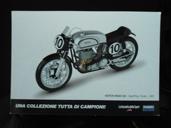 Norton MANX 500 - Geoffrey Duke Motorbike Carte Postale - Motorcycle Sport