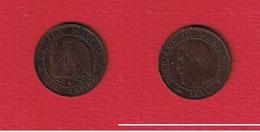 Napoléon III  --  2 Centimes 1856 K  --  état  TB+ - B. 2 Centimes