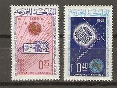 Maroc - 1965 - UIT - Série Complète MLH - YT484/85 - Morocco (1956-...)