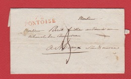 Lettre De Pontoise   --  Pour Meaux   --  24 Mars 1817 - Marcofilie (Brieven)