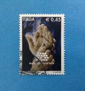 2004 ITALIA FRANCOBOLLO USATO STAMP USED LEGA DEL FILO D'ORO - 6. 1946-.. Repubblica