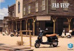 MOTOS Et VESPAS  - VESPA ET2 (50 Cc) Et ET4 (125 Cc) PIAGGIO - CPSM Publicitaire PUB GF - - Motorbikes