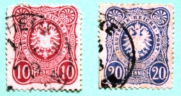 Lot De 2 Timbres Empire N°32 Et 33 - Used Stamps