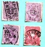 Lot De 4 Timbres Oblitérés Empire N°37 Et 38 - Used Stamps