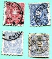 Lot De 4 Timbres Oblitérés Empire N°38 Et 39 - Used Stamps