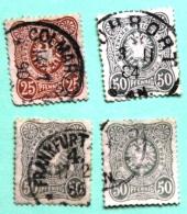 Lot De 4 Timbres Oblitérés Empire N°40 Et 41 - Used Stamps