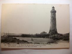 Carte Postale Saint Malo ( 35) Le Phare Du Jardin Dans La Baie De St Malo ( Petit Format Non Circulée ) - Saint Malo