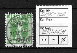 1907-1909 TELLKNABE (neue Zeichnungen) → SBK-103, ERLACH 24.XII.08 - Gebraucht