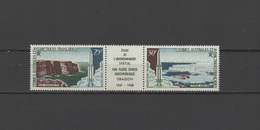 FSAT French Antarctic Territory 1968 Space Set Of 2 With Label MNH