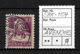 1914-1933 TELLBRUSTBILD → SBK-154, AVENCHES .... III.21 - Gebraucht