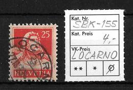 1914-1933 TELLBRUSTBILD → SBK-155, LOCARNO 27.IV.32 - Gebraucht
