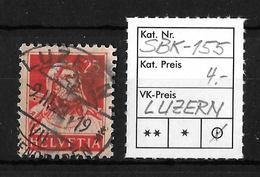 1914-1933 TELLBRUSTBILD → SBK-155, LUZERN 9.III.22 - Gebraucht