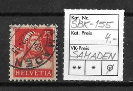 1914-1933 TELLBRUSTBILD → SBK-155, SAMADEN 18.III.22 - Gebraucht
