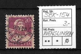 1914-1933 TELLBRUSTBILD → SBK-154, WENSLINGEN 9.IV.28 - Gebraucht