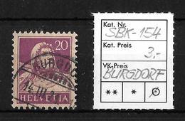 1914-1933 TELLBRUSTBILD → SBK-154, BURGDORF 14.II.24 - Gebraucht