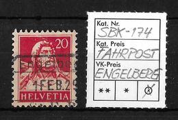 1914-1933 TELLBRUSTBILD → SBK-174, ENGELBERG 1 FEB.29   ►FAHRPOST-STEMPEL◄ - Gebraucht