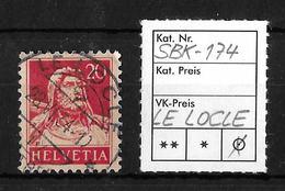1914-1933 TELLBRUSTBILD → SBK-174, LE LOCLE 28.VI.34 - Gebraucht