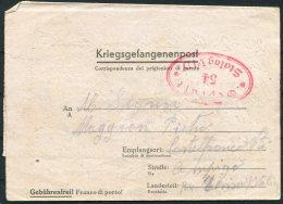 1944 Germany POW Kriegsgefangenenpost, Prisonniers De Guerre Stalag 6D Censor - Castelfranco Italy - Allemagne
