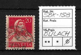 1914-1933 TELLBRUSTBILD → SBK-158, BÜLACH 3.V.25 - Gebraucht