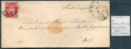 1876 Norway 3sk Military Cover. Tansberg - Moss, Brigade Norske Jaegercorps - Briefe U. Dokumente