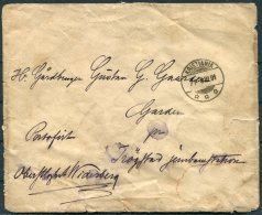 1891 Norway Kristiania Numedals Landvaerns Bataillon Military Cover - Briefe U. Dokumente