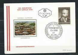 Österreich 1968  FDC  Ausstellung Camillo Sitte - FDC