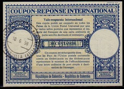 COLOMBIA/ COLOMBIE London Type XVIn Blueish Black $0.60 EXTRARRAPIDO/ 35 C. Antwortschein Reply Coupon Reponse Respuesta - Kolumbien