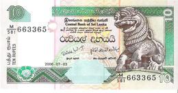 Sri Lanka - Pick 115e - 10 Rupees 2006 - Unc - Sri Lanka