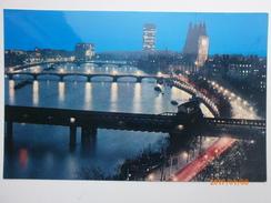 Postcard River Thames & Big Ben At Night London My Ref B1440 - Houses Of Parliament